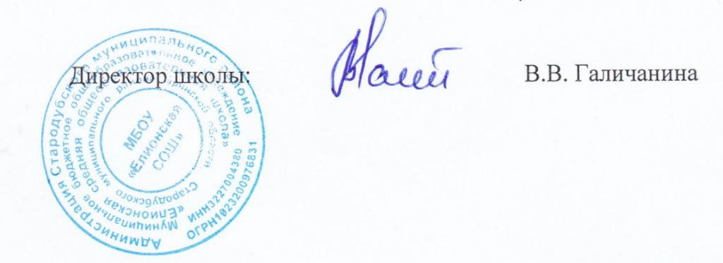подпись и печать